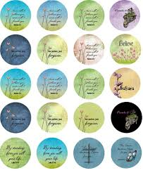 Christian Scripture Sayings Circles Ceramic Decals Enamel Decal Fusible Decal Glass Fusing Decal Waterslide Decal 89305 Xpression Decals