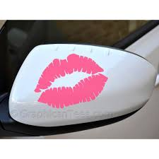 Kiss Lips Lipstick Wing Mirror Bumper Car Body Stickers Girl Car Stickers