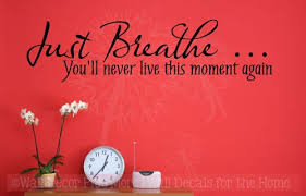 Just Breathe Wall Vinyl Decals Sticker Wall Quotes
