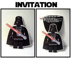 Star Wars Darth Vader Party Invitation Star Wars Invitations Star Wars Party Lego Star Wars Party