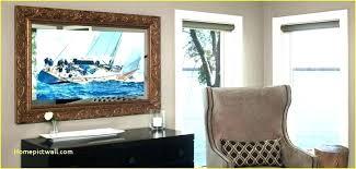 flat screen tv hide flat screen mirror