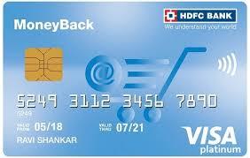 hdfc bank moneyback card check