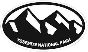 Amazon Com Cafepress Yosemite N P Oval Bumper Sticker Euro Oval Car Decal Home Kitchen