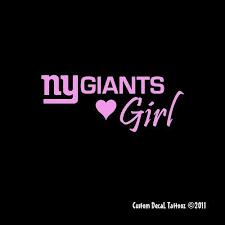 New York Giants Vinyl Car Decal Sticker 1814 Vinyl New York Giants Ny Giants New York Giants Football