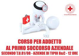 CORSO DI ADDETTO AL PRIMO SOCCORSO T.U. D.LGS 81/2008 – Croce Rossa –  Comitato locale di Borgosesia