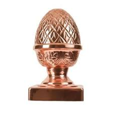 Jaki Jorg 6 In X 6 In Copper Pineapple Slip Over Fence Post Cap Hdc534pp The Home Depot Fence Post Caps Post Cap Copper Pyramid