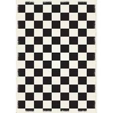 black checkerboard indoor outdoor area