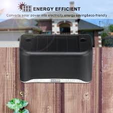 12 12 Happylife Led Solar Fence Post Power Wall Light Outdoor Garden Lamp Shopee Philippines