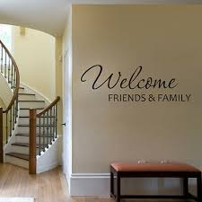 Welcome Friends Family Wall Decal Quote Vinyl Living Room Stair Removable Decor Ebay