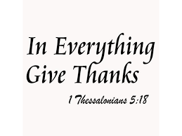 Vwaq In Everything Give Thanks Wall Decal 1 Thessalonians 5 18 Bible Scripture Religious Wall Decor Quote For Home Wall Art Sticker Sayings Newegg Com
