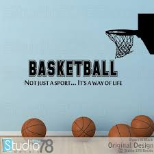 Basketball Wall Decal With Hoop Not Just A Sport It S A Etsy