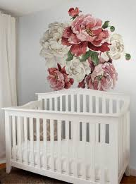 Vintage Red White Peony And Rose Floral Bouqets Wall Decal Sticker Wall Decals Wallmur