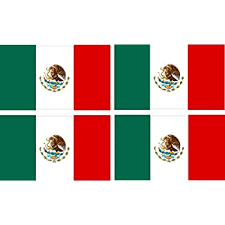 Amazon Com Rogue River Tactical Pack Of 4 Mexico Mexican Flag Auto Car Decal Bumper Sticker Truck Boat Rv Window 5x3 Inch Rectangle Automotive