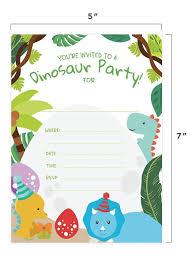 Estilo De Dinosaurio 2 Invitaciones De Feliz Cumpleanos T