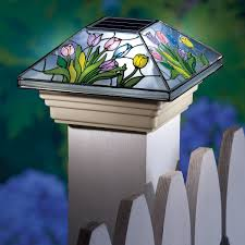 Solar Spring Fence Post Cap Light Collections Etc