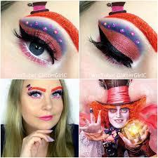 mad hatter makeup look glitterc