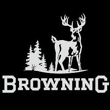 Browning Truck Window Decal White 12 Inch Hunters Deer Buck Browning Deer Head Browning Deer Deer