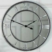 mirror wall clock skeleton wall clock