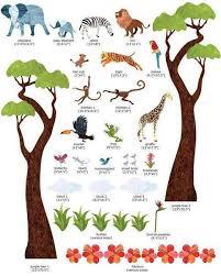 Safari Wall Decals Jungle Safari Wall Sticker Kit