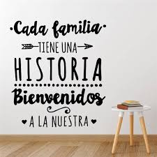 Mega Deal Ffc0b Spanish Version Family Vinyl Wall Decal Every Family Has A History Quote Wall Sticker Home Party Decoration Poster Decals Ru173 Cicig Co