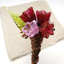 fl bouque blown glass flowers