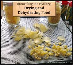 drying and dehydrating food
