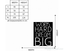 Work Hard Quotes Wall Decal Motivational Vinyl Art Stickers