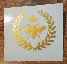 Exterior Accessories Novelty Sticker Decals For Women Queen Bee Crown Bee Car Window Trucks Laptop Decals 9 Inch Itrainkids Com
