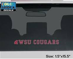 Amazon Com Washington State Cougars Decal Strip Logo W Wsu Cougars Sports Fan Automotive Decals Sports Outdoors