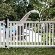 Freedom Actual 4 04 Ft X 7 56 Ft Ready To Assemble Terex White Vinyl Flat Top Vinyl Fence Panel Lowes Com Vinyl Fence Panels Vinyl Fence Fence Panels