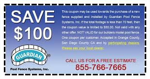 Pool Fence Coupons Up To 100 Off Guardian Pool Fence