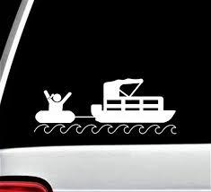 Girl Tubing Pontoon Boat Decal Sticker For Car Window Bg 431 Etsy