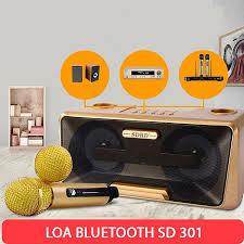 Loa Bluetooth Karaoke SDRD SD-301 Kèm 2 Mic Không Dây