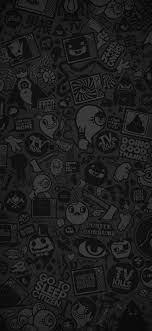 amoled doodle wallpapers wallpaper cave