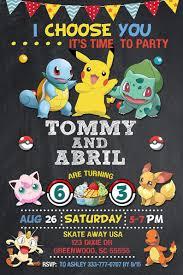 Invitacion Pokemon Pokemon Invitacion De Cumpleanos Pokemon