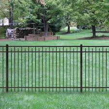 Tuffbilt Brilliance Heavy Duty 2 1 2 In X 2 1 2 In X 7 1 3 Ft Black Aluminum Fence End Post 73009250 The Home Depot