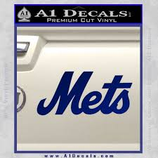 Ny Mets Decal Sticker Txt A1 Decals