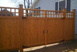 Custom Wood Fence Design Guide Straight Line Fence