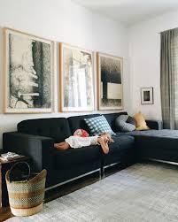 charcoal sofa linen grey curtains