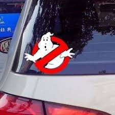 Ghostbusters Vinyl Car Window Decal Waterproof Car Stickers And Decals Wall Sticker Reflect Silver Red Geek