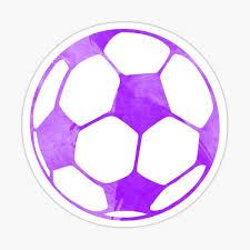 Purple Soccer Ball Sticker By Gracehertlein Redbubble