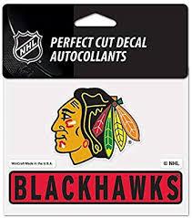 Chicago Blackhawks Nhl 10cm X 13cm Perfect Cut Car Decal Blackhawks Wincraft Amazon Ae