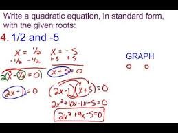 quadratic equation in standard form