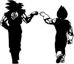Dragon Ball Z Dbz Goku Vegeta Anime Decal Sticker For Car Truck Laptop Anime Decals Goku And Vegeta Dragon Ball Z