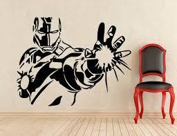 Iron Man Stickers Tony Stark Wall Vinyl Decals Home Interior Murals Art Decoration 209z Vinyl Wall Decals Interior Murals Wall Paint Designs