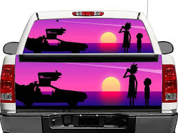 Product Rick And Morty 2 Rear Window Or Tailgate Decal Sticker Pick Up Truck Suv Car