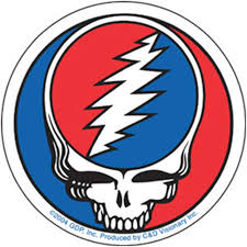 Amazon Com Peacemonger Grateful Dead Steal Your Face Lightning Bolt Skull Art Dead Head Classic Clear 5 Sticker Automotive