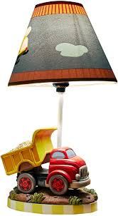 Amazon Com Fantasy Fields Transportation Thematic Kids Table Lamp Imagination Inspiring Hand Painted Details Lead Free Water Based Paint For Kid S Bedroom Red Truck Multicolor Toys Games