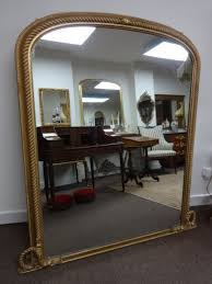 arch top gilt overmantle mirror c 1850
