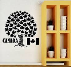 Wall Decal Canada Maple Leaf Country Symbol Art Room Vinyl Stickers Ig2716 Ebay